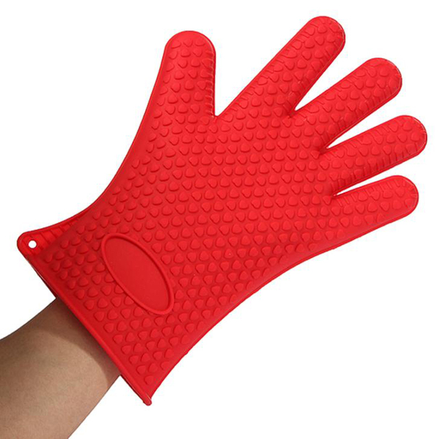 Beau Silicone Oven Mitt Microwave Heat Insulated Gloves Solid Slip Resistant  Baking Oven Mitt Pot Holder