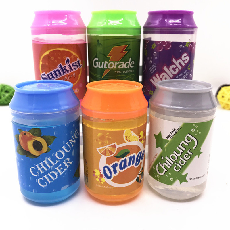 Cute 6 Color Cans Of Slime Crystal Mud DIY Transparent Jelly Mud Blowing Bubbles