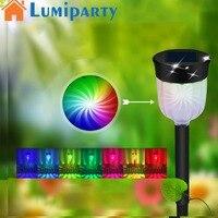 LumiParty 4PCS 6PCS Outdoor Solar Powered LED Lamp Lawn Pin Lamp Waterproof Light Colorful Festival Yard