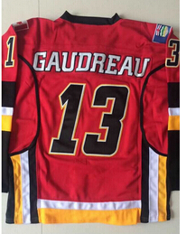 Cheap Mens Calgary Flames Hockey Jersey 13 Johnny Gaudreau Jersey Name and Number  100% Stitched Embroidery Logos 4132-in Hockey Jerseys from Sports ... f4eabde1c
