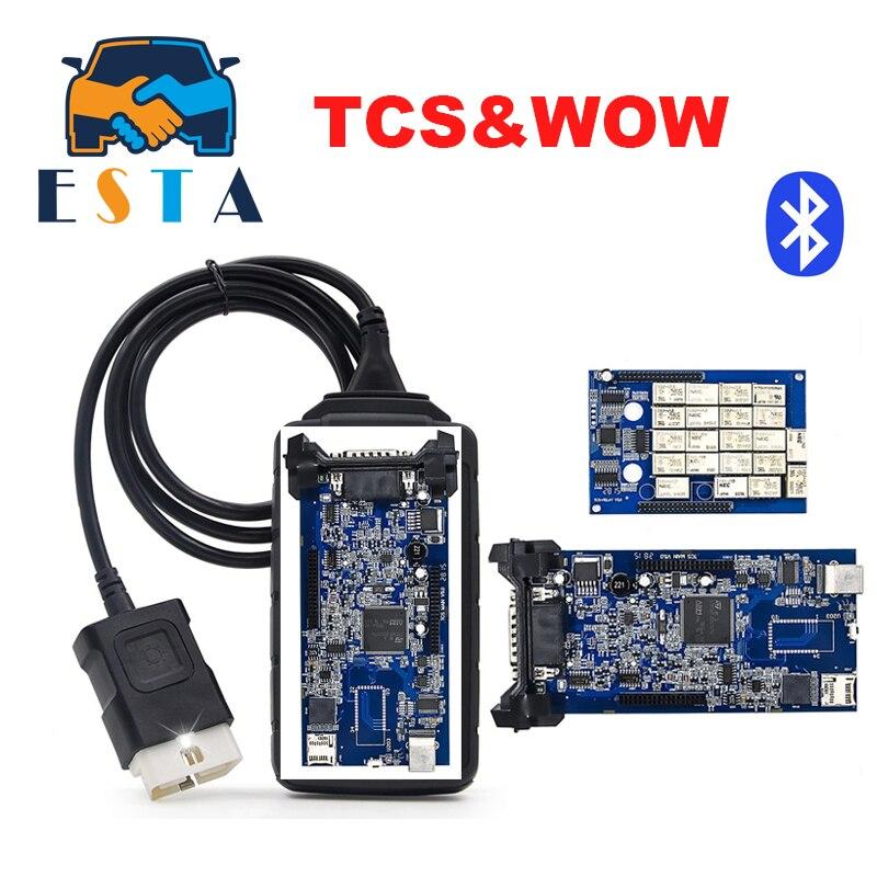Цена за + + Качество WOW TCS Pro V5.008R2 Bluetooth TCS с самым лучшим синий pcb TCS Pro Инструменты диагностики TCS Pro Plus