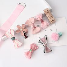 M MISM 1Set = 8 sztuk Multi-style wstążki łuk kwiat spinki do włosów barrettes akcesoria dla dzieci cute baby Girls nakrycia głowy klip do włosów tanie tanio Akrylowe H248-H252 Moda Hairpins Kwiatowy Dziewczyny Headwear JAK pokazano na Korea kwiat łuk Chiny (kontynent)