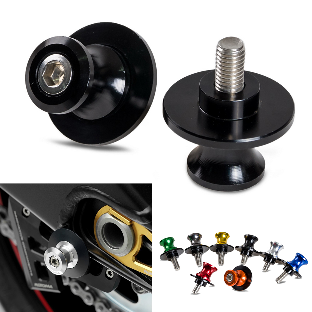 NICECNC 6mm Motorcycle Swing Arm Spools For Yamaha R1 R6 R7 R6S FZ1 FZ8 MT01 MT03 YZF600R MT07 MT09 FZ07 FZ09(China)