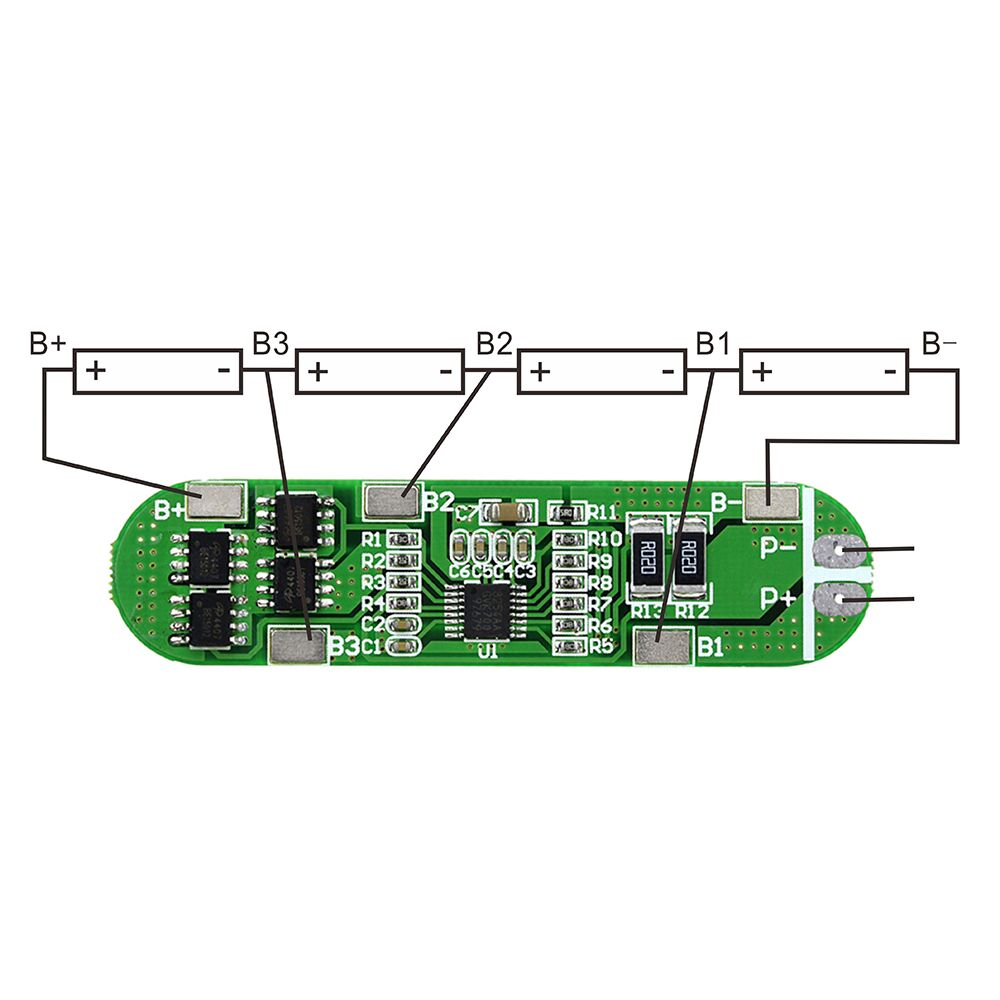 4s 20a 148v 168v Li Ion Battery18650 Bms Lithium Pcm Protection Lipo Battery Pack Wiring Diagram 6a 16v 18650 Board For