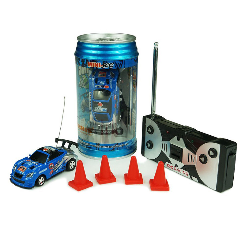 New Multi Colors Coke Can RC Car Radio Remote Control Car Micro Racing Car Toy <font><b>1</b></font> Pcs Kid's Toys Gifts Random Racing Car