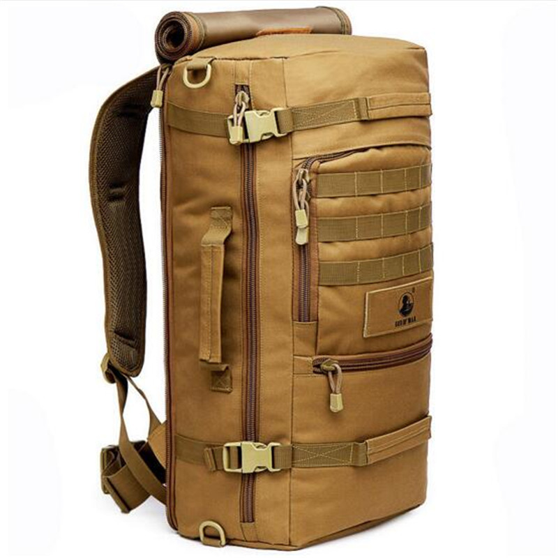 Waterproof Nylon Fashion Male Laptop Backpack Casual Female Travel Rucksack Camouflage Army Bag 60L Men Women Military Backpacks edc bag tool army fan carabiner nylon webbing backpack buckle mini clip fashion