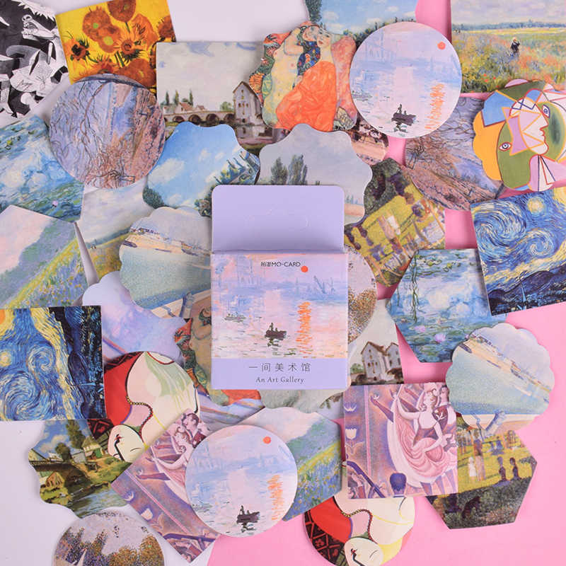 46 Pcs/box Vintage Master of art mini paper sticker decoration DIY diary scrapbooking seal sticker kawaii stationery