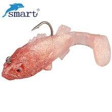 цена 4Pcs Soft Fishing Lures 6cm/8.3g Artificial Soft Baits Silicone Fish Shap Bait Isca Metal Jig Souple Peche Carp Fishing Tackle онлайн в 2017 году