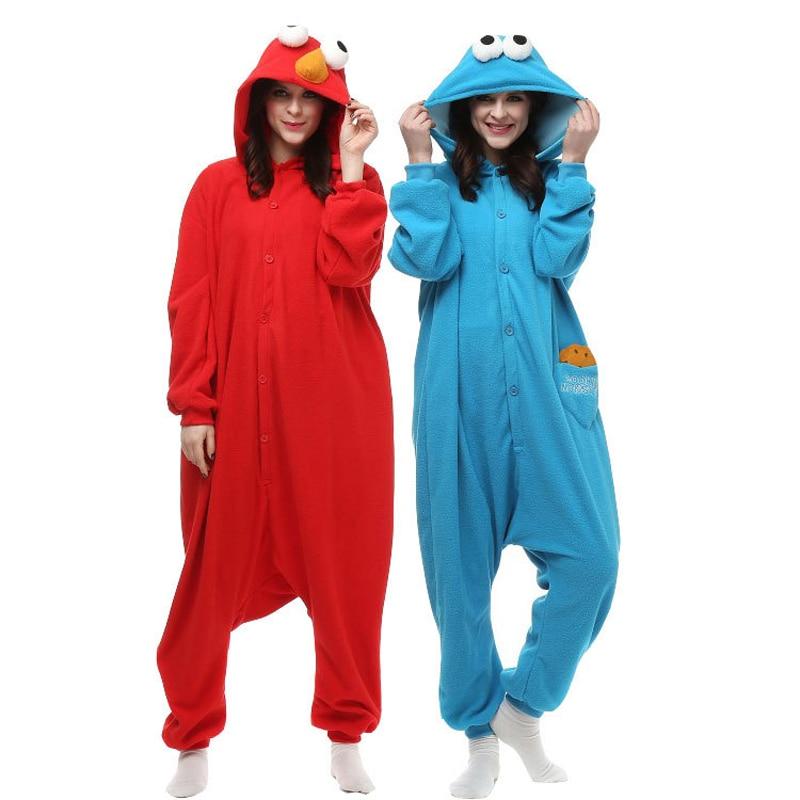 Sesame Street Onesie For Adults Elmo Fleece Pijama Animal