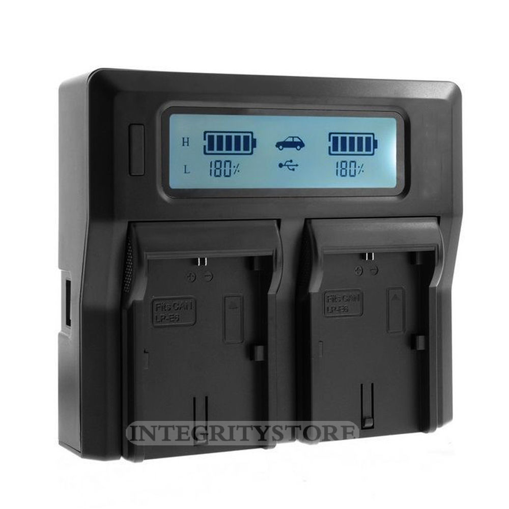 LP-E6 LPE6 LP E6 LCD Dual Battery Charger for Canon EOS 5D Mark iii 5D Mark ii 6D 60D 7D 70D 80D 5Ds цифровая фотокамера canon eos 7d mark ii body wi fi adapter 9128b128
