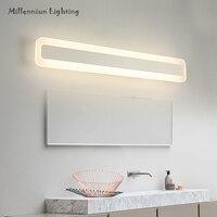 Modern bathroom mirror lamp stainless steel adjustable wall lamp acrylic waterproof LED mirror light 40cm14W/50cm16W AC90 260V