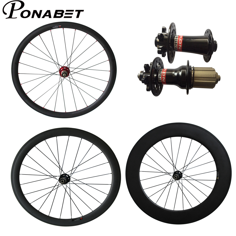 PONABET 700C 38mm 50mm 60mm 88mm Clincher Tubular Novatec Disc brake carbon wheel wheelset from Chinese