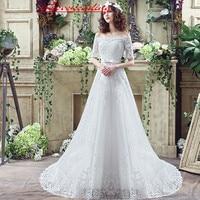 iLoveWedding Vintage Wedding Dresses Mermaid Sweep Train Lace Bridal Gowns Lace Up Bandage White/ivory Long Bohemian Gowns 33280