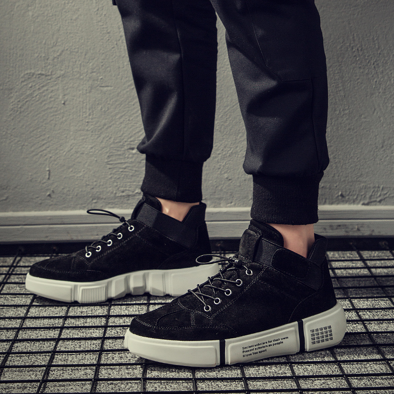 Black Algodão Fur Tamanho Sapatilhas amp; Fur High Skateboarding Genuíno Ocasionais Conforto Moda 44 Quente 39 gray Top gray Couro Venda Homens De Sapatos black Formadores Hq5wC5