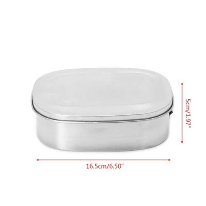Single/Double Layer Stainless Metal Picnic Lunch Box Case Bento Food Container#~ Lunch Boxes     - title=