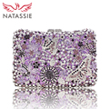 NATASSIE Women Evening Bags Ladies Crystal Wedding Clutch Bag Female Party Clutches Purses