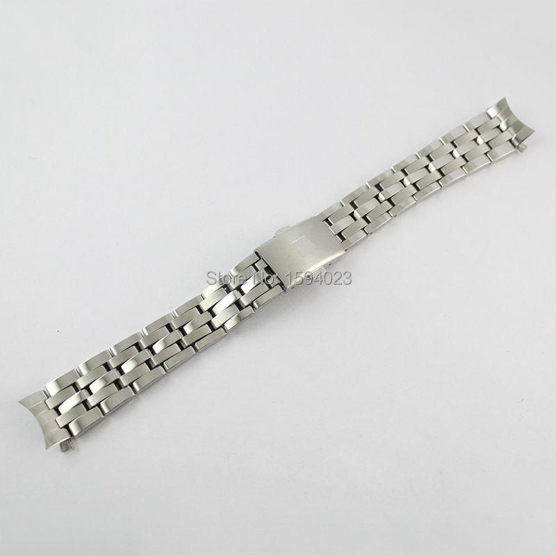 16 մմ PRC200 T055217 Watchband Watch կին արծաթագույն պինդ չժանգոտվող պողպատից ձեռնաշղթա T055- ի համար