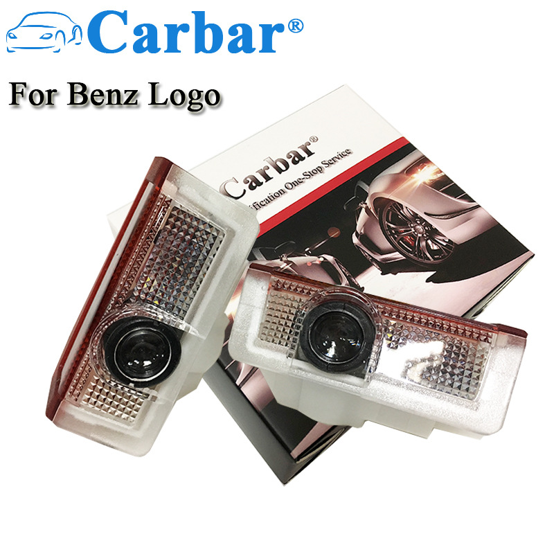 Carbar#Car Door Welcome Laser Projector Led Light For Mercedes-Benz Logo Light E Class W212 W166 W176 Shadow Ghost Courtesy Lamp