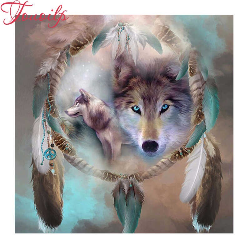Icon Diamond Embroidery Wolf Mosaic Crystal 5D Cross Stitch Full Square Drill Diamond Painting DIY Sticker Decor Paintings