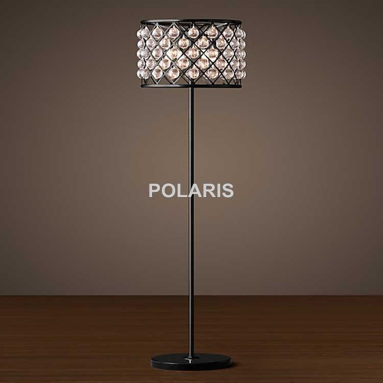 Обувь по заводским ценам современный Винтаж кристалл торшер Tear Drop Cristal пол свет домашнего освещения украшения сделаны Polaris освещения