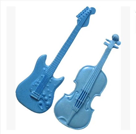New wholesale hot sale Guitar Violin Musical Instrument chocolate silicone mold  fondant Cake decoration mold chocolate mold
