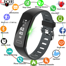 LIGE 2019 New Bluetooth Bracelet Smart Wristband  Activity Tracker Sport ip67 Waterproof Band Fitness Pedometer