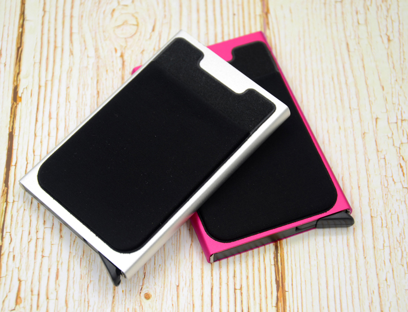 Credit Card Holder Case Aluminum Wallet With Elasticity Back Pocket RFID Thin Metal Wallet Business ID Card Holder 27
