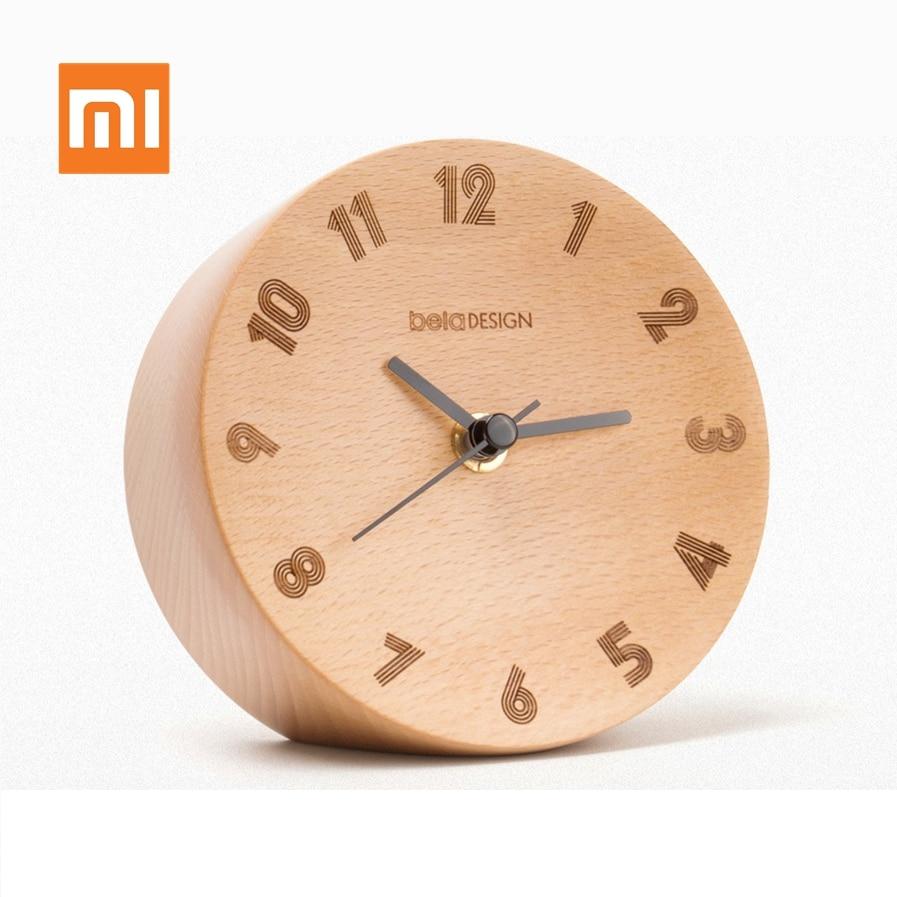 Original Xiaomi Mijia Alarm Clock Nordic Minimalist Decoration Small Pendulum Clock Wood Mute Sweeping for Smart Home Office|Personal Care Appliance Accessories| |  - title=