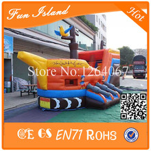 Free Shipping Commercial Inflatable Pirate Ship,Jumping Castle For Kids Play,Inflatable Bouncer Combo,Inflatable Bouncer House