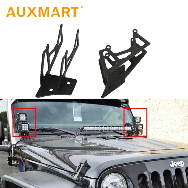 Auxmart Dual A Pillar Fog Light Spotlight Mounting Brackets For