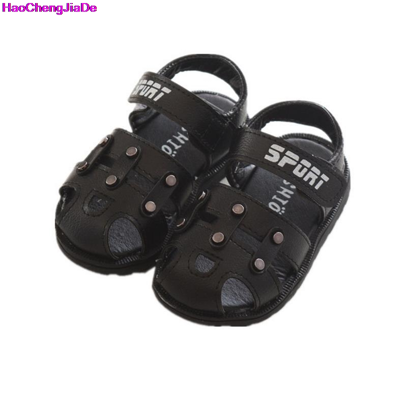 HaoChengJiaDe Spring Summer Shoes Boys Soft Leather Sandals Baby Boys Summer Prewalker Soft Sole Pu Leather Beach Sandals