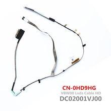 Nova VBW00 DC02001VJ00 HD Lcd Lvds Cable Para Dell Inspiron 3537 5537 3521 5521 Lcd Cabo Lvds Toque CN-0HD9HG