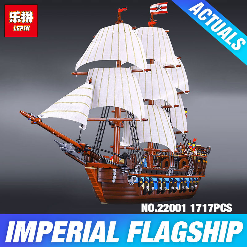 NEW LEPIN 22001 Pirate Ship Imperial warships Model Building Kits Block Briks Gift 1717pcs Compatible DIY Child Educational Toys