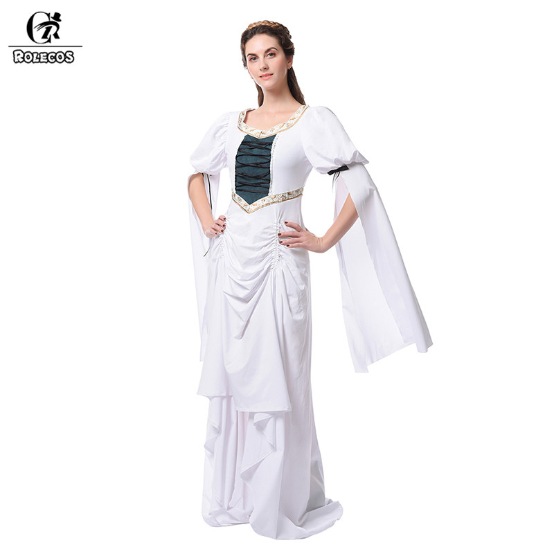 ROLECOS femmes Vintage broderie robes Renaissance victorienne médiévale robe de bal robes Lolita Cosplay Costumes