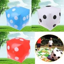 Надувная игрушка 35 см разных цветов, куб кости, реквизит для сцены, инструмент для групповых игр, казино, украшения для покервечерние, бассей...
