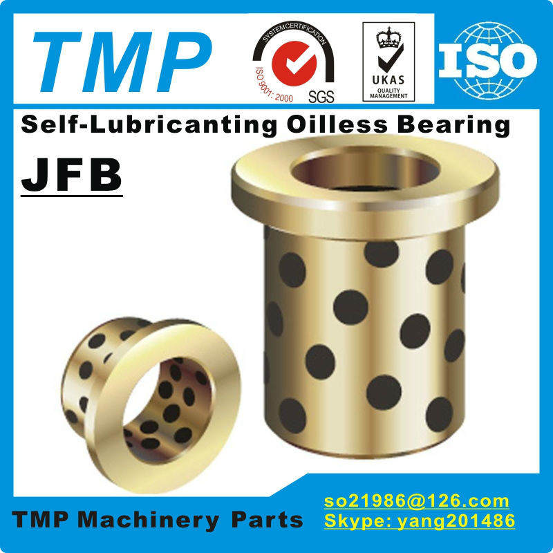 JFB2530 2530F Size 25 35 30 45 5mm Flanged Solid Lubricanting Oilless Graphite Brass Bushing Copper