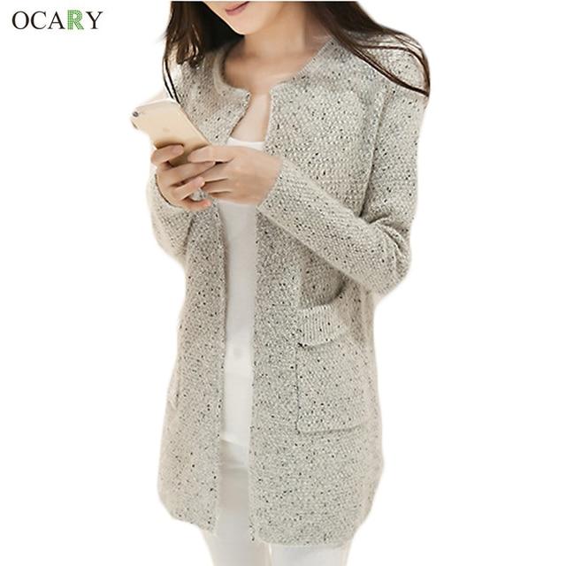21ee35194 New Winter Women Casual Long Sleeve Knitted Cardigans Autumn Crochet ...