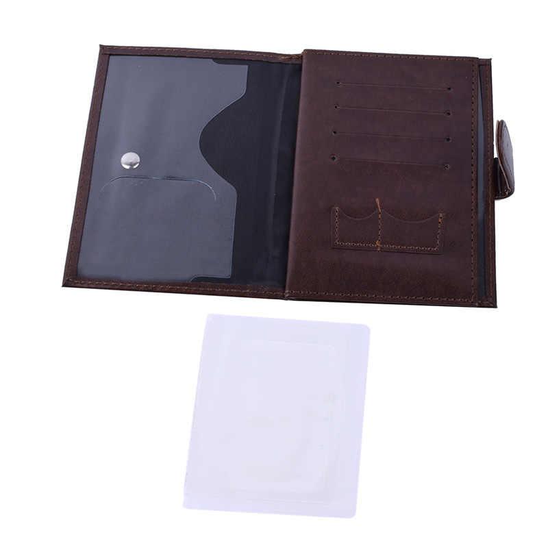 3 en 1 passeport couvre organisateur Automobile permis de conduire Documents Case PU cuir Porte-Carte pour passeport Porte Carte Bancaire