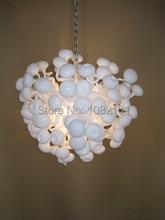 Free Air Shipping Handmade Mushroom Glass Pendant Lamp White
