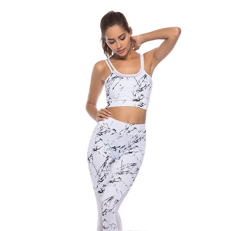 Tracksuits & Sets Just White Tank Top Leggings Tracksuit Fitness Clothing Gym Sportswear Outfits Sport Clothing, Shoes & Accessories