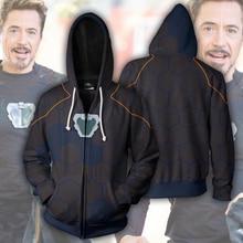 High Quality Man Zipper Hoodies Avengers 3 Superhero Costume Fashion 3D Print Jacket