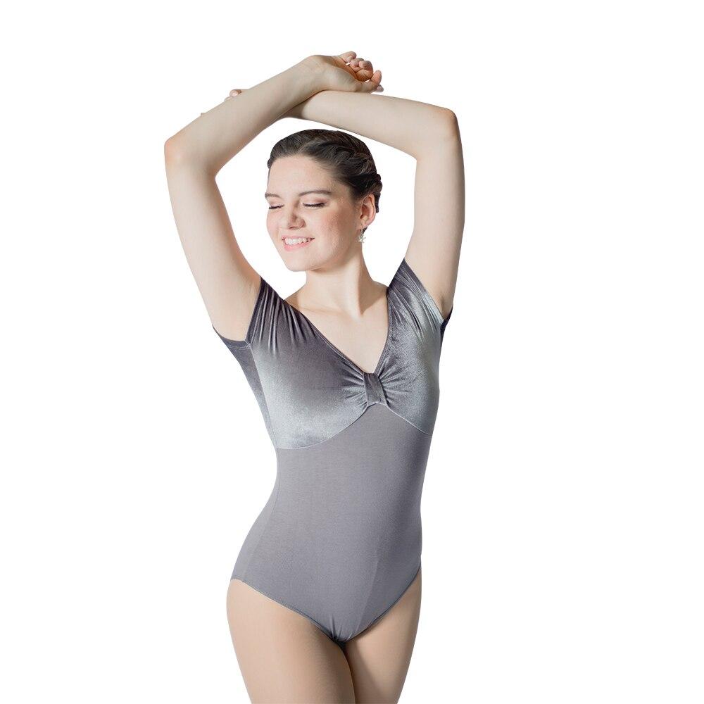 hdw-dance-dark-gray-velvet-top-and-cotton-lycra-cap-sleeve-font-b-ballet-b-font-dancing-leotard-for-ladies-and-girls