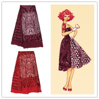 2016 Аппликация Чистая кружева с пайетками Французский кружевной ткани в африканском стиле вышивка сетка ткань для платья. Высокое качество