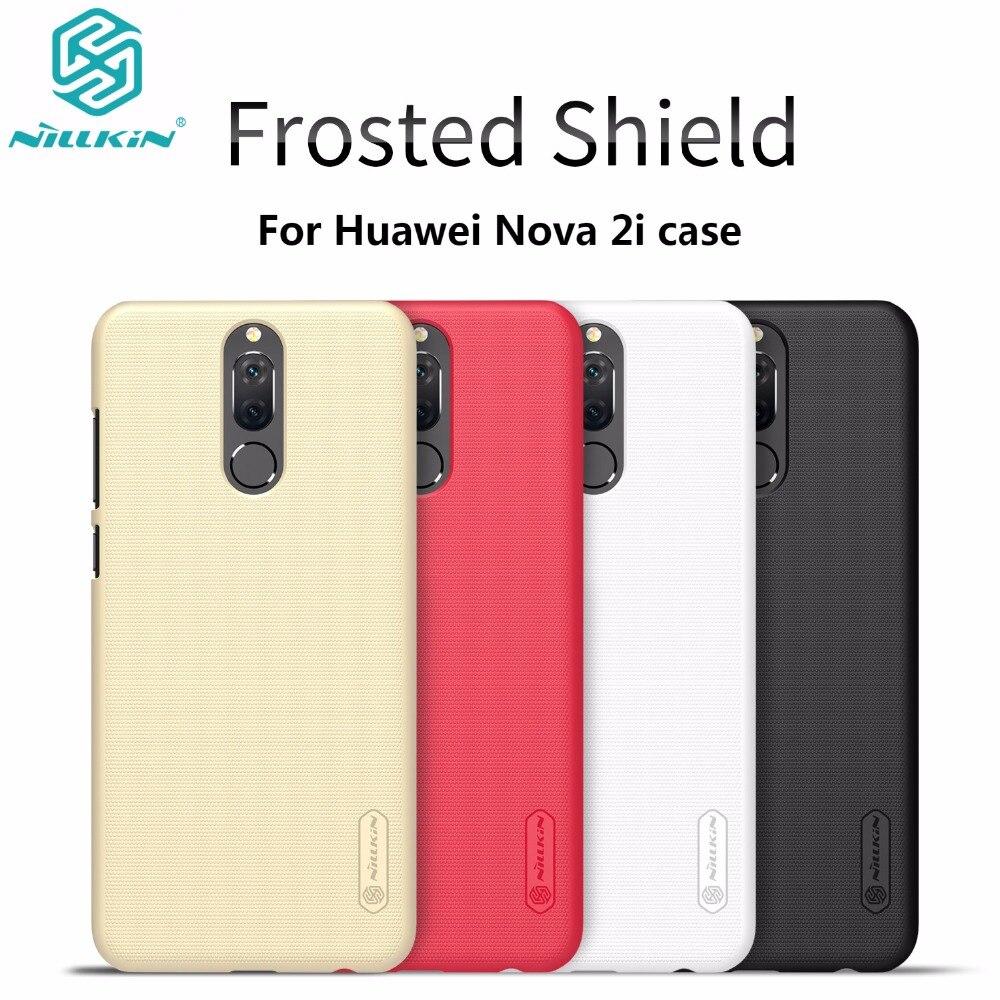 Huawei Nova 2i caso Nillkin helada caso para Huawei Nova 2i plástico duro contraportada con regalo Protector de pantalla