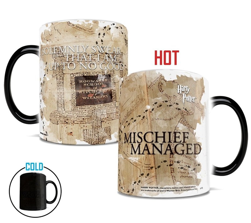 1pcs Creative Magic Harry Color Changing Mug Potter Marauders Map Mischief Managed Ceramic Milk Tea Cup Christmas Gift harry potter mug marauders map