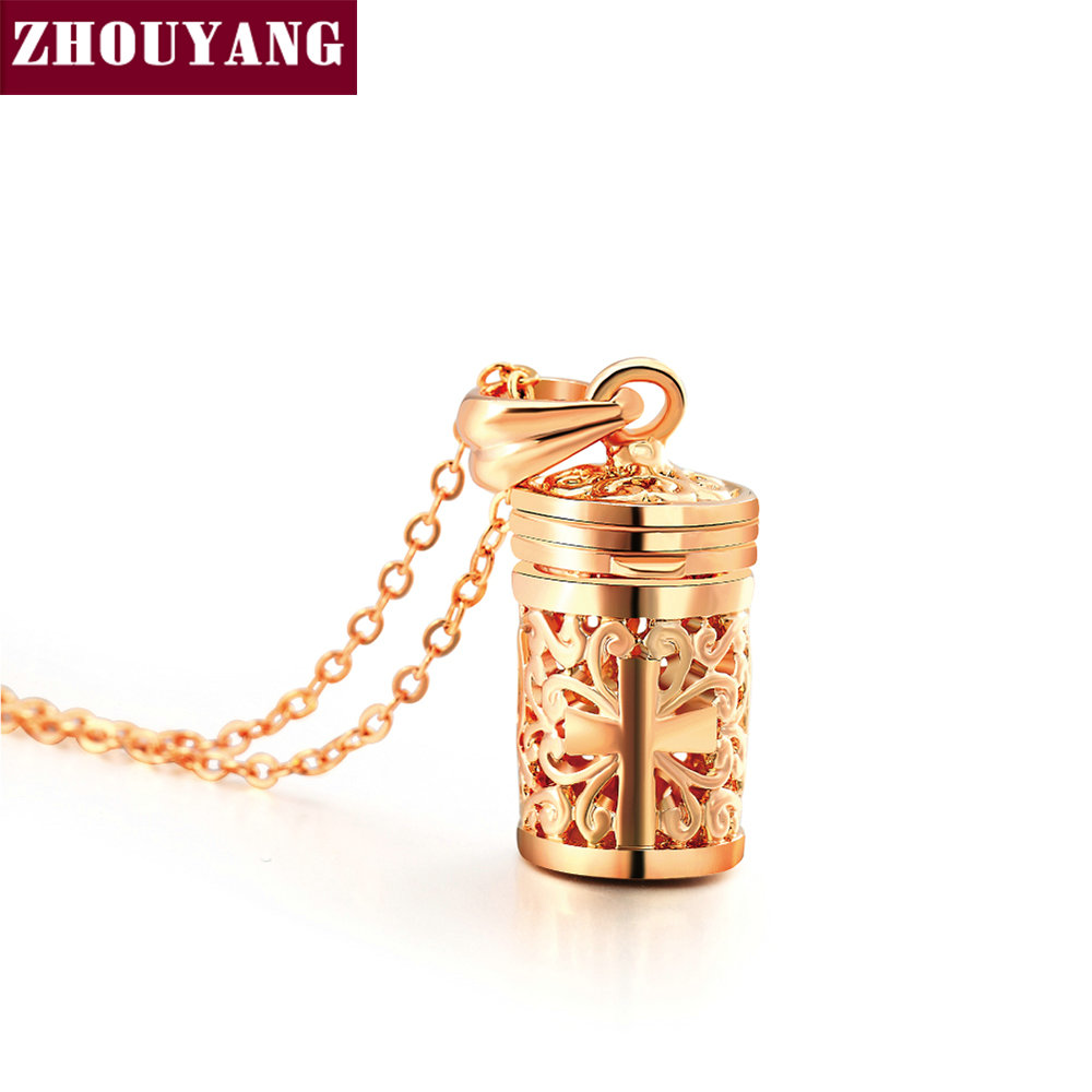 Top Quality Hollow-Out Cross Pattern Rose Gold Color Pendants