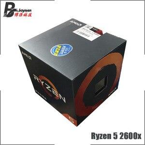 Image 1 - Процессор AMD Ryzen 5, 2600X Р5 2600X 3,6 ГГц, шесть ядер, двенадцать потоков CPU L3=16M 95 Вт YD260XBCM6IAF сокет АМ4, новый, с кулером