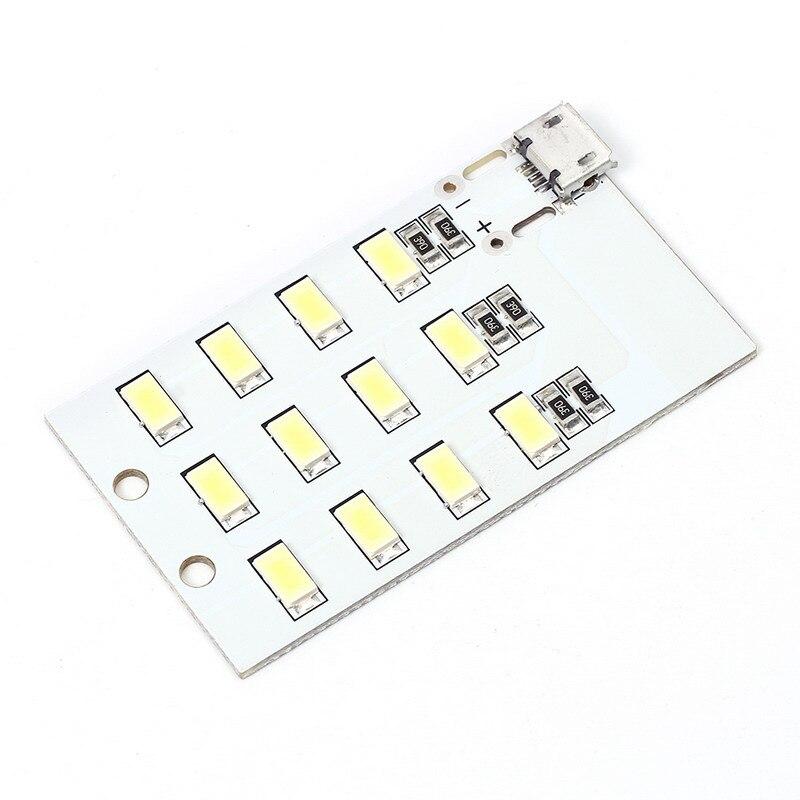 5 шт. Micro USB мобильного Мощность лампа 12 шт. светодиоды Совета аварийное освещение SMD 5730 супер яркий Лампа Подставки LED доска Micro USB DC ...