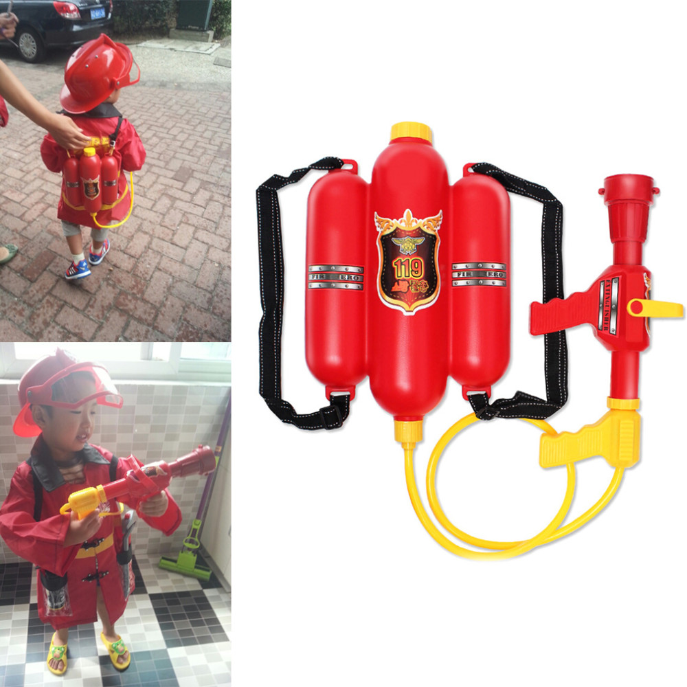 Toys & Hobbies Kids Pull-type Fire Extinguisher Water Gun Cap Firefighting Suit Beach Play Toys