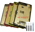 For Sony Xperia Z1 Compact D5503 Housing LCD Plate Bezel Cover Front Chassis Frame + Sticker + Kits